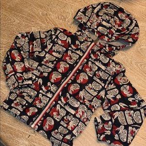 Moncler boys jacket coat 4T talking bird red blue